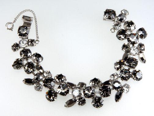 Regency Gray Rhinestone Bracelet