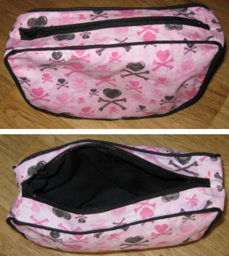 Finished cosmetic bag