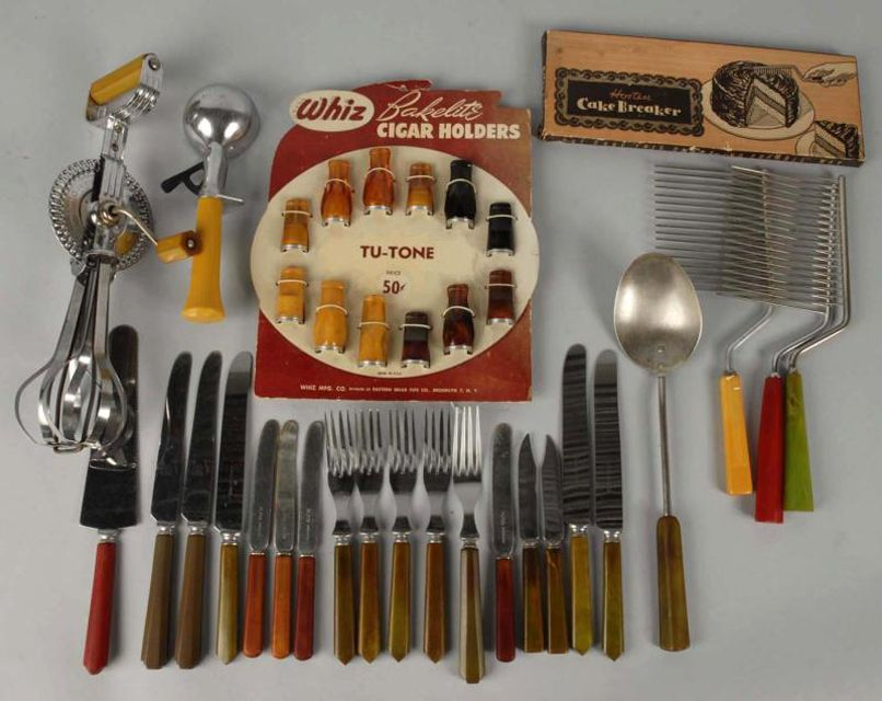 Bakelite kitchen gadgets and cigar holders