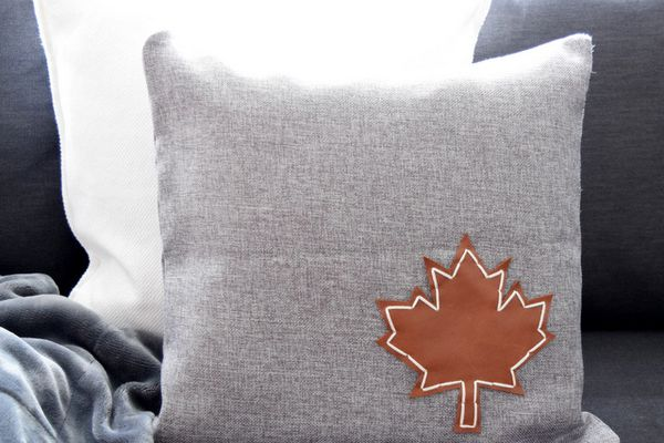 DIY Leather Accent Pillow