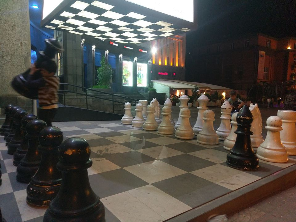 Chess at Charles Aznavour Square, Yerevan