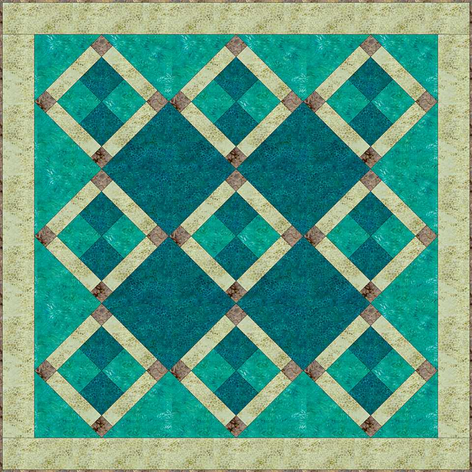 Try Batiks For This Lovely Patchwork Quilt Block Pattern