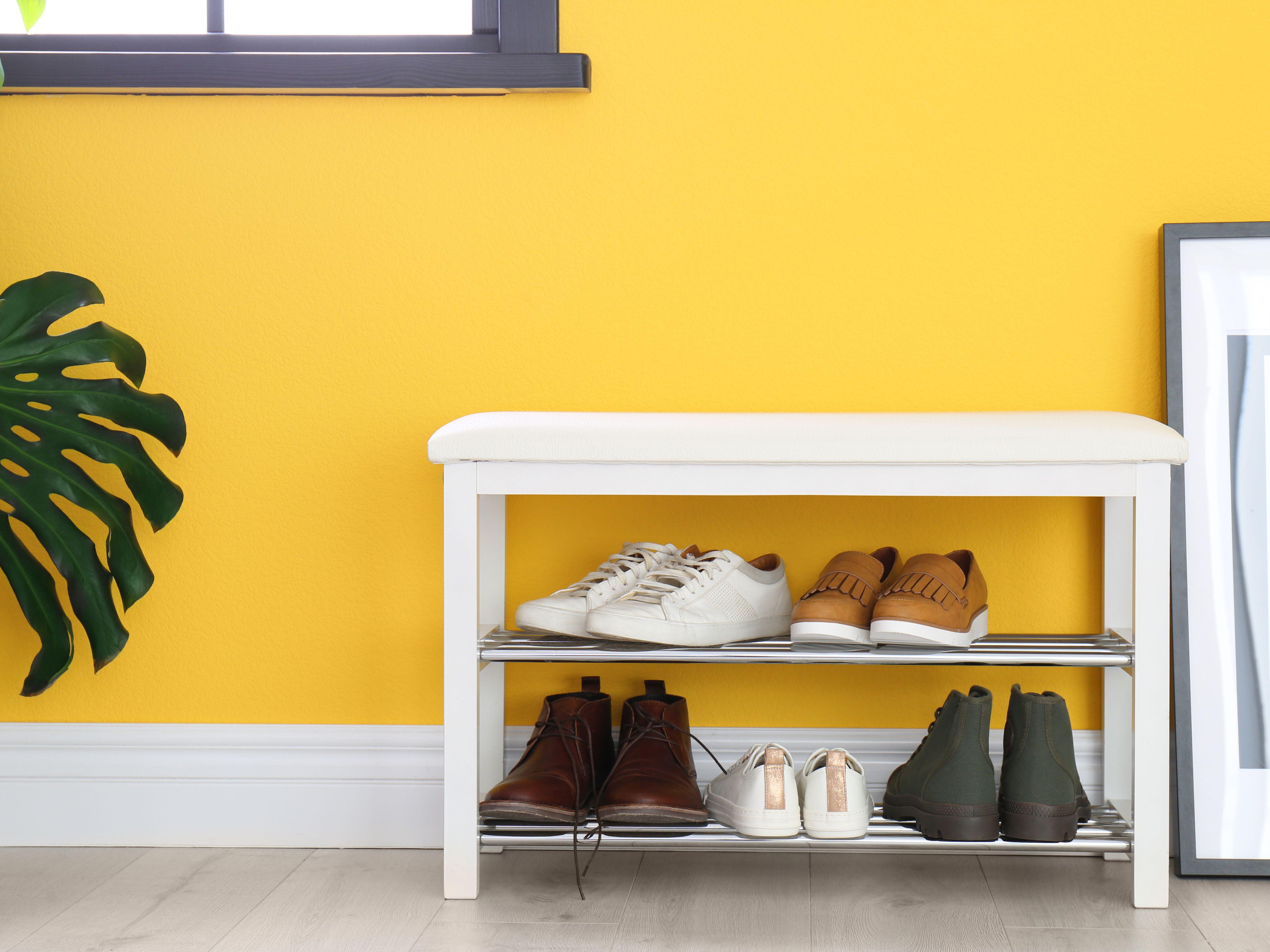 Shoe Storage Bench Shoe Rack Organizer Stand 2 Tier Shelf Entryway Unit Solution Cabinet Hallway Handmade Home Furniture Organiser Vintage