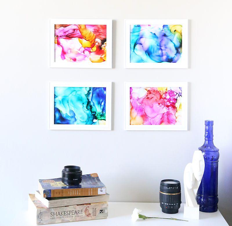 colorful diy wall art