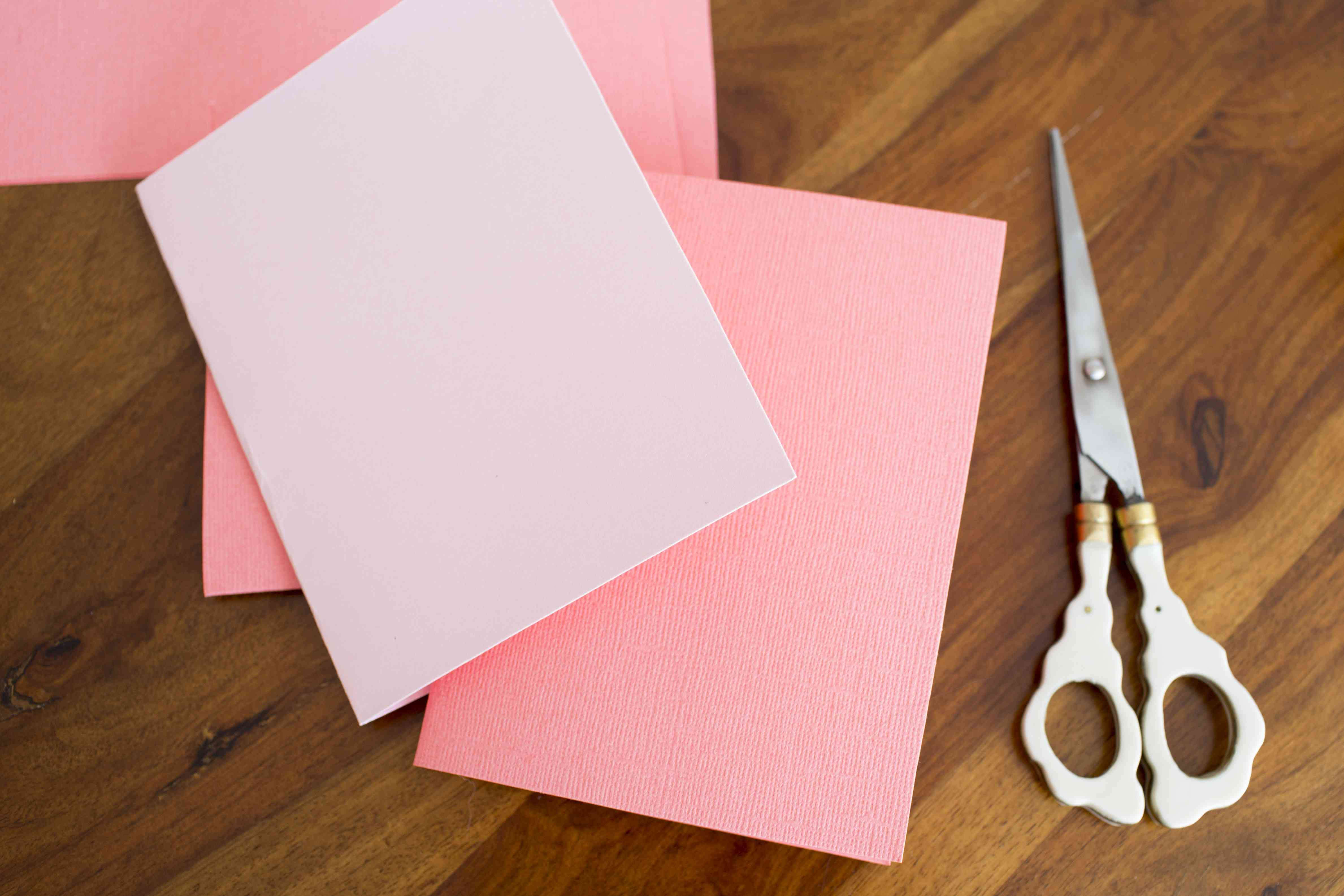 two colors of card stock