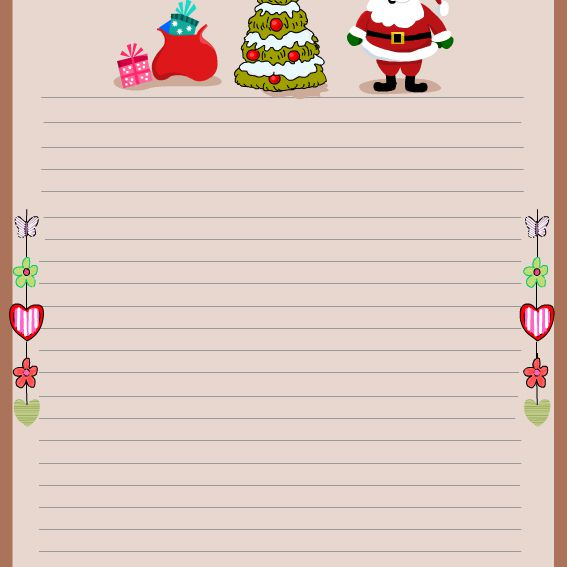 free christmas stationery and letterheads to print