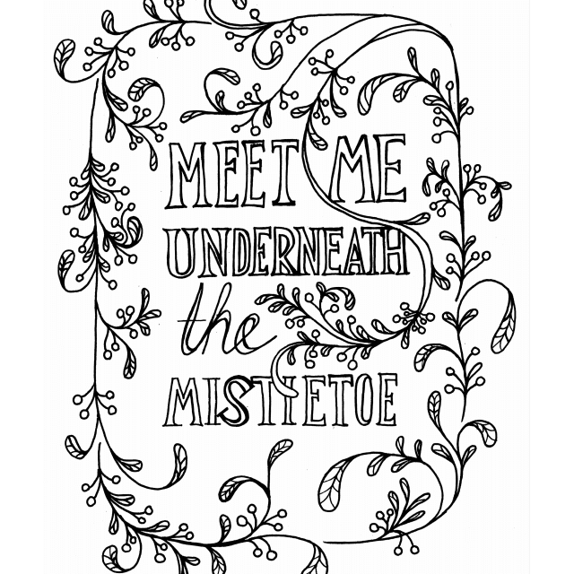 meet me underneath the mistletoe coloring page 5b0d63ed04d1cf aad58