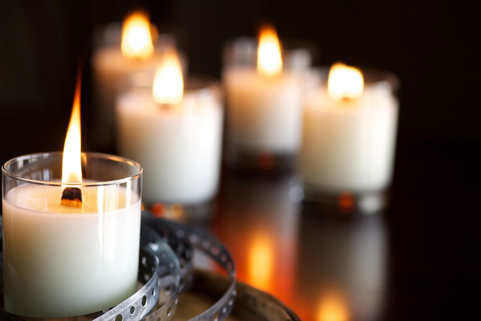 Paraffin wax candles