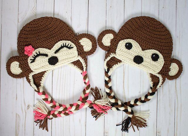 Crochet Monkey Hats