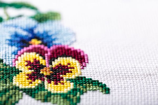 Embroidered good by cross stitch pattern