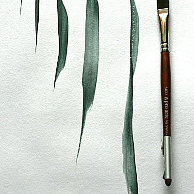 Sword brush for painting