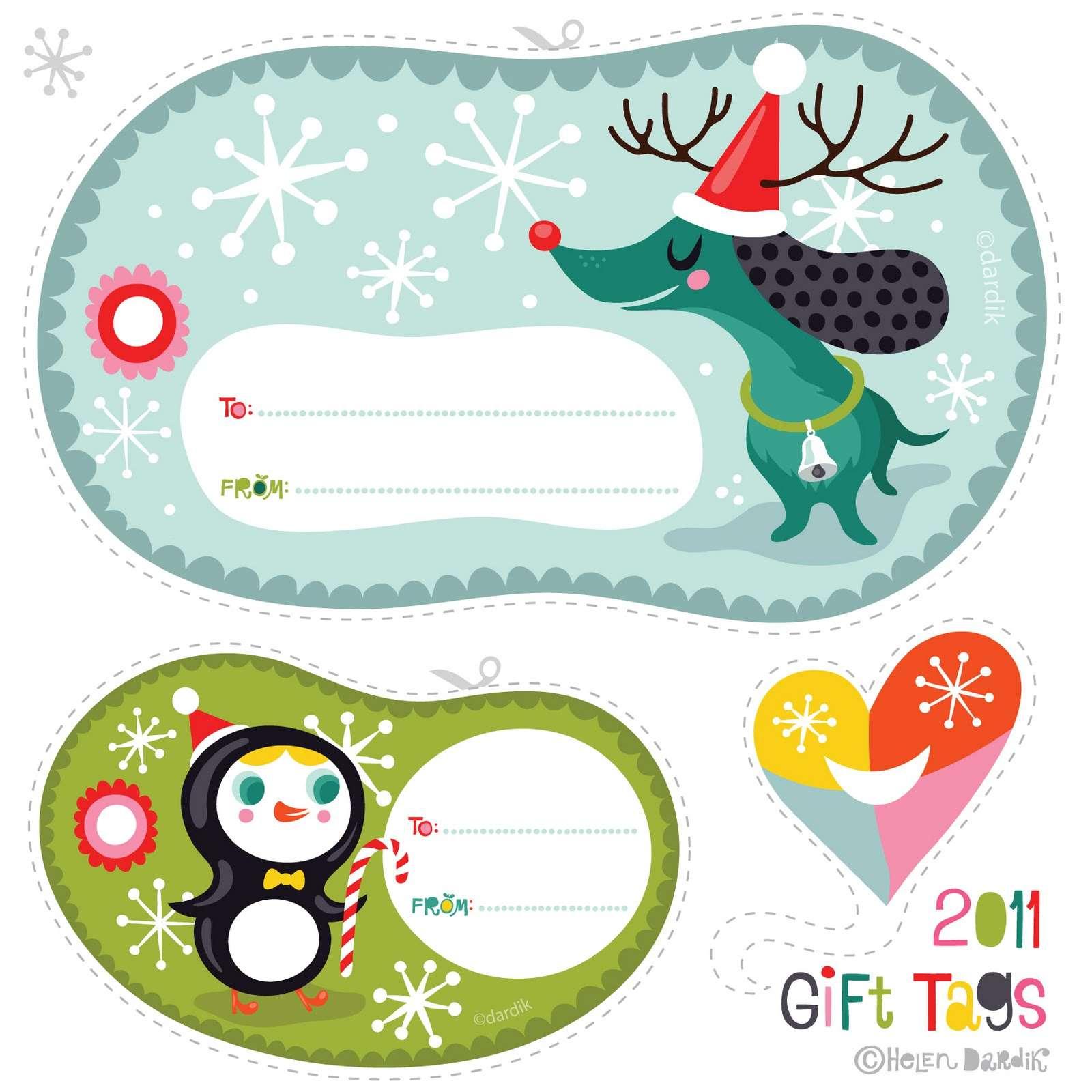 40 sets of free printable christmas gift tags