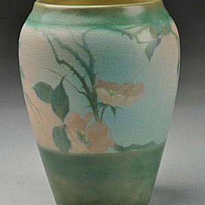 Rookwood Vellum Roses Vase