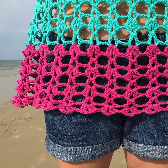 Color Block Crochet Tank Top Pattern