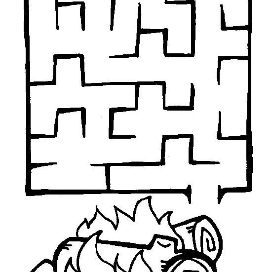 Clean image pertaining to printable mazes for 3 year olds