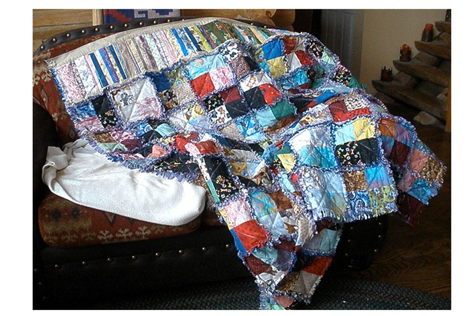 Cat and Dog Rag Quilt