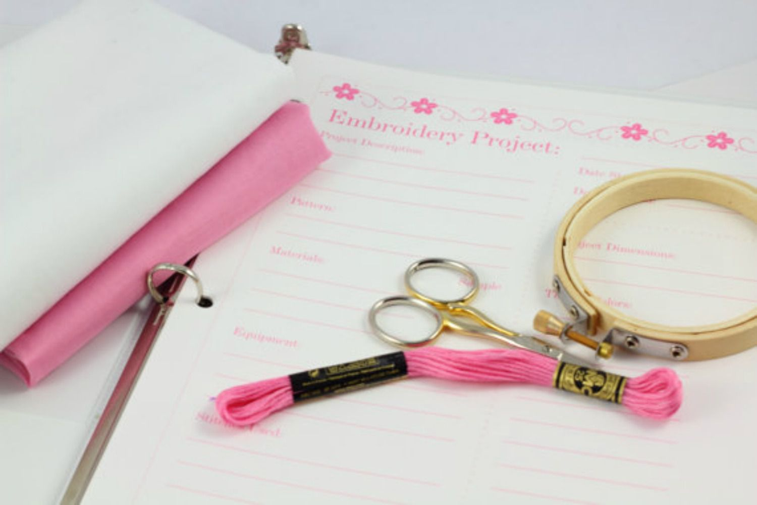 Embroidery project planner