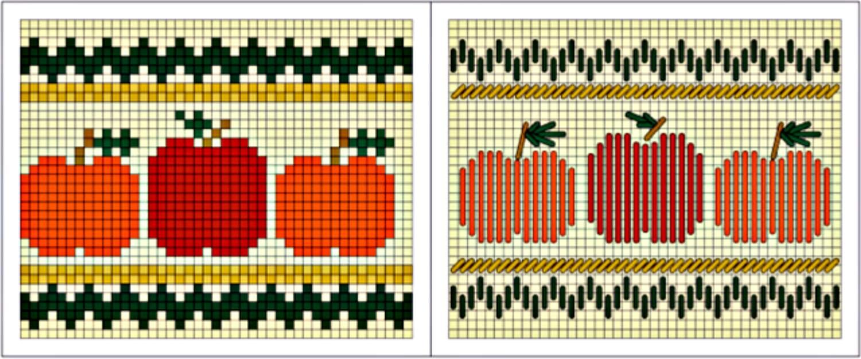 Pumpkin Patch Needlepoint Charts