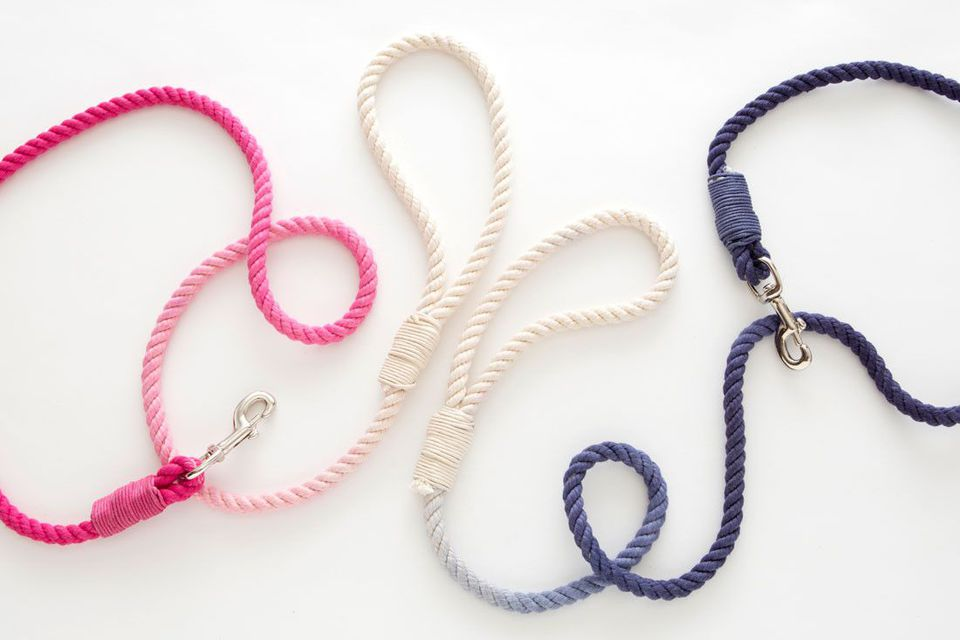 dip dyed dog leashes