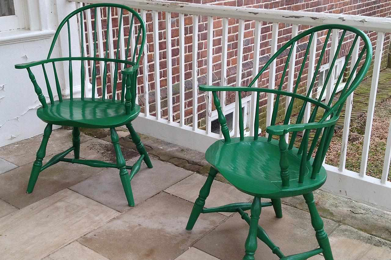 Gunston Hall Painted Windsor Chairs.