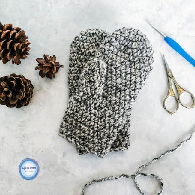 Winter Crochet Mittens Free Pattern
