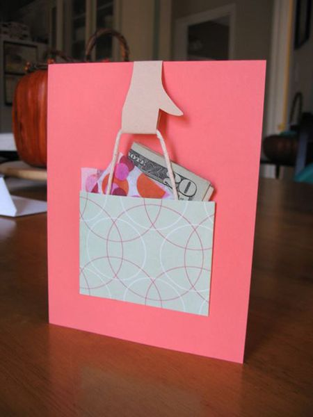 Shopping Bag Card With Cash Insert