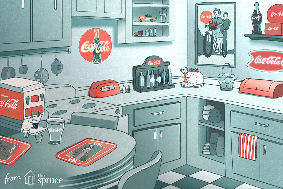 Illustration of Coca-Cola collectibles