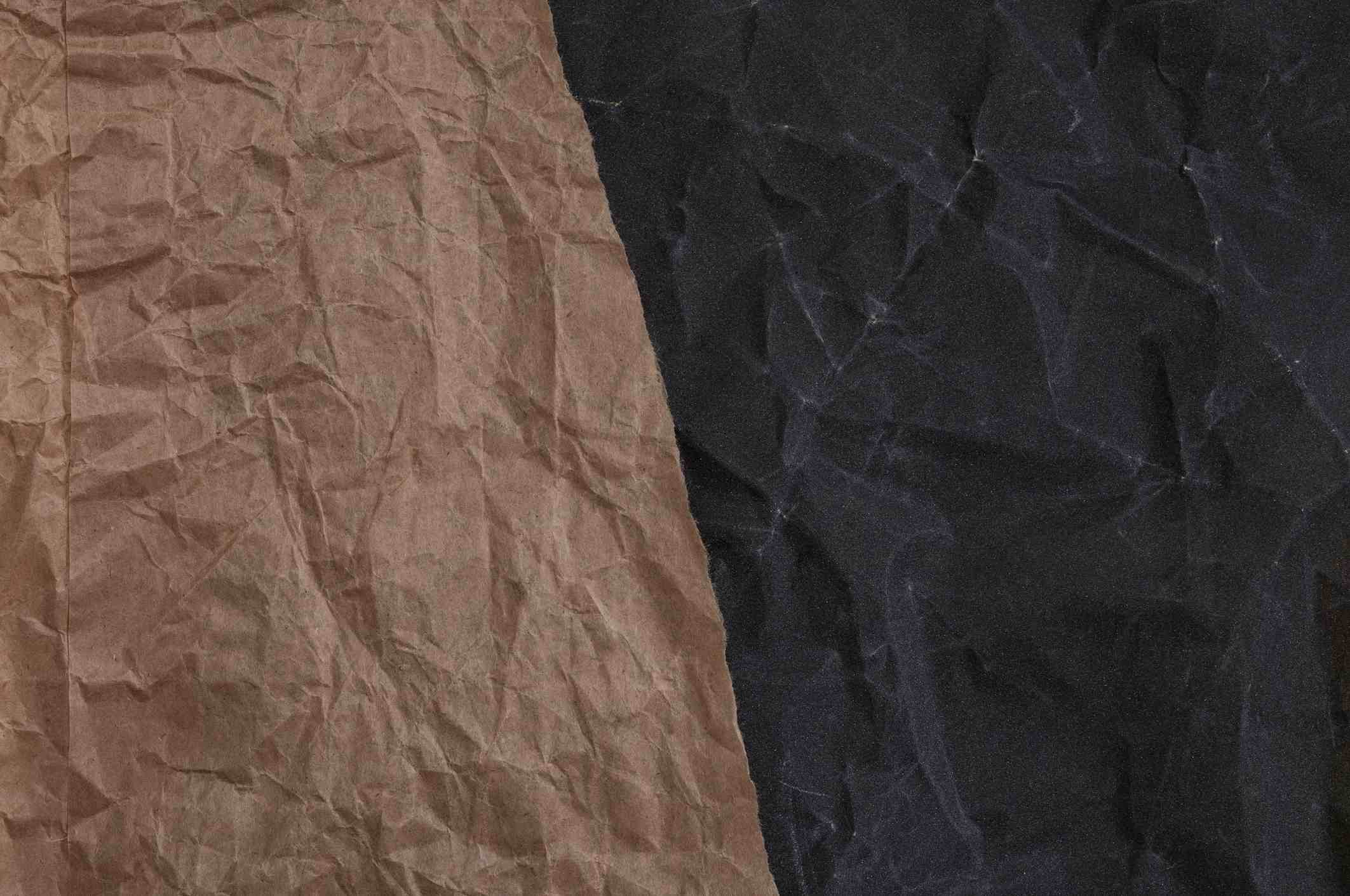 Two different types of used sandpaper