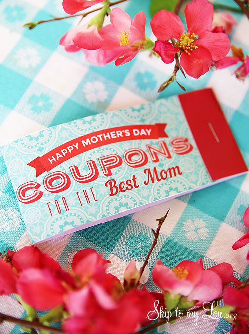 13 Sets of Free, Printable Mother\'s Day Coupons