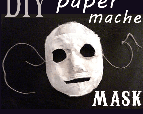make a paper mache mask
