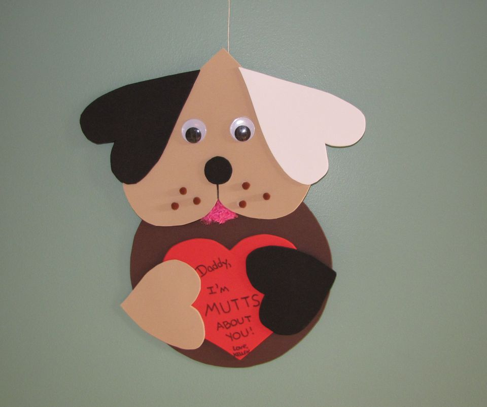 A picture of the I Ruff You foam dog craft