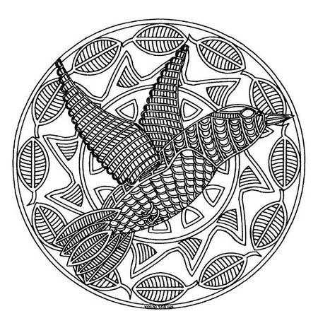 A Bird Mandala Coloring Page