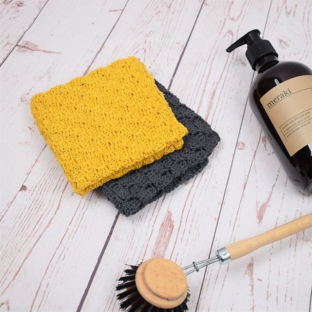 C2C crochet dishcloth free pattern