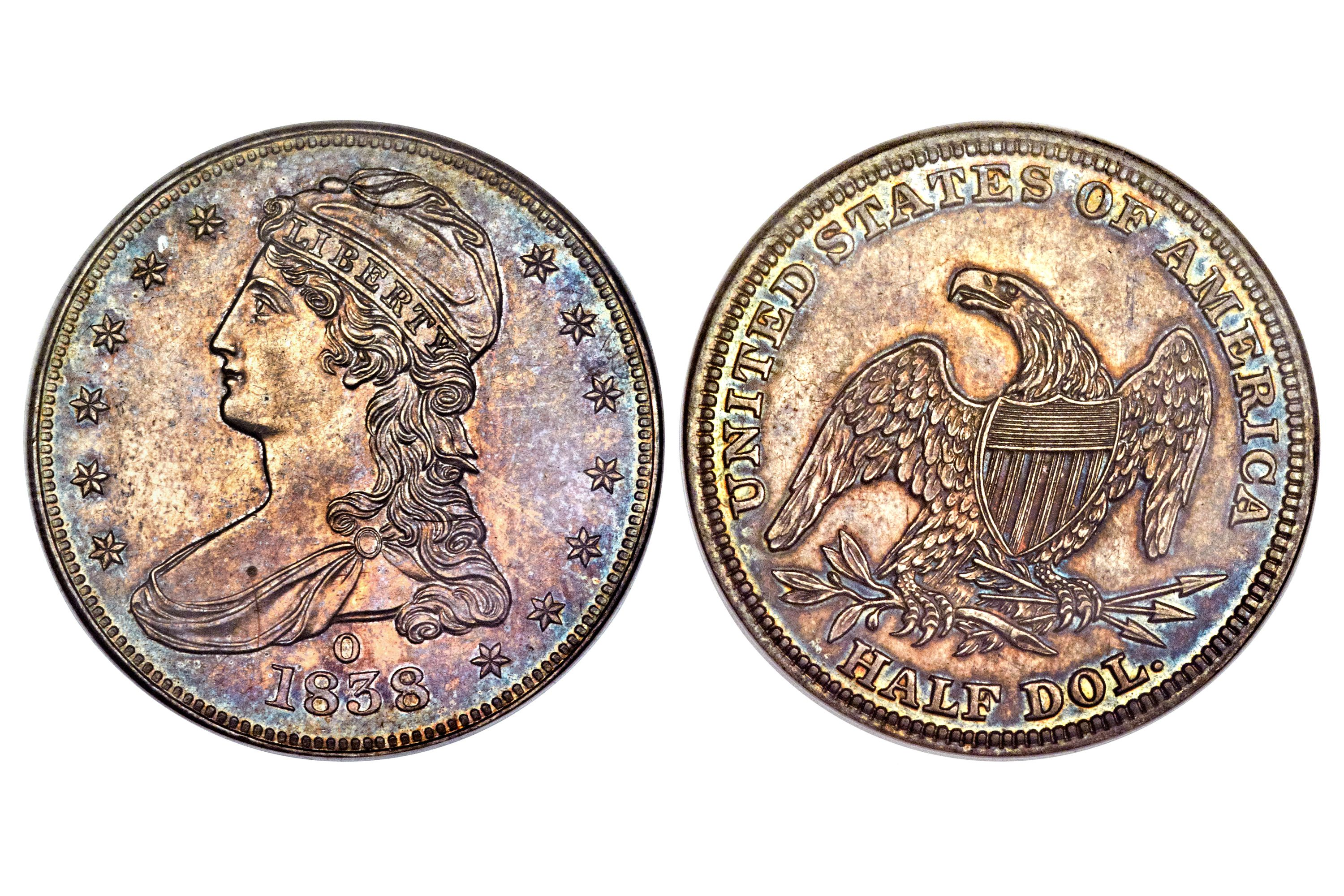 1838-O Proof Capped Bust Half Dollar