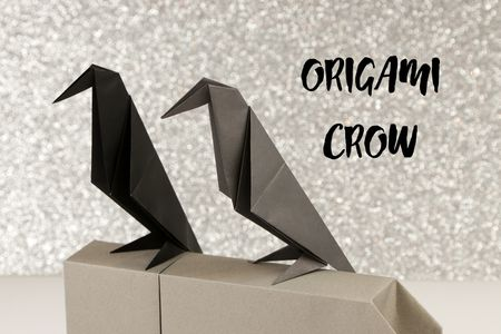 Make An Origami Crow For Halloween