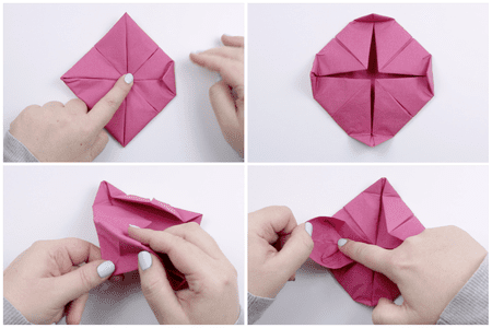 How to make an origami napkin lotus origami lotus napkin folding 03 mightylinksfo