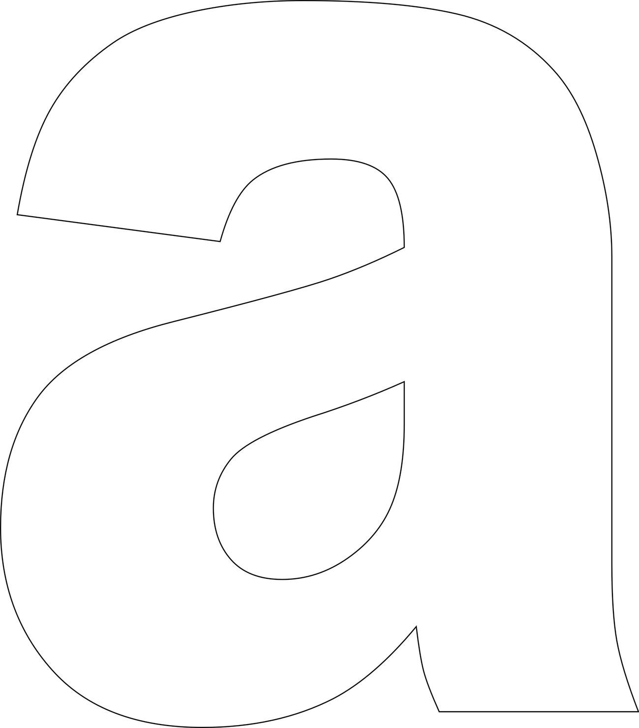 Hilaire image for free printable lower case letters