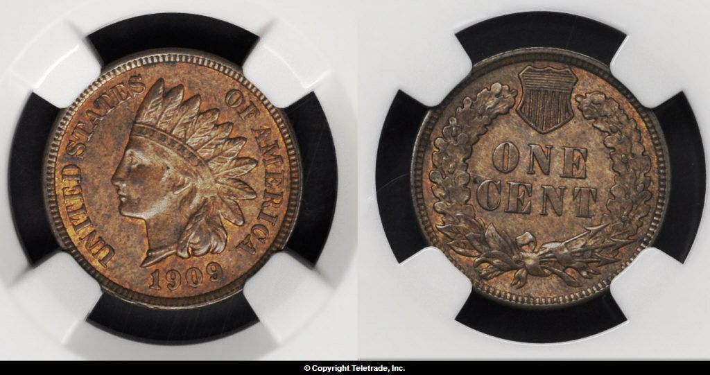 Indian Head Penny Graded Mint State 63 Brown (MS63BN)