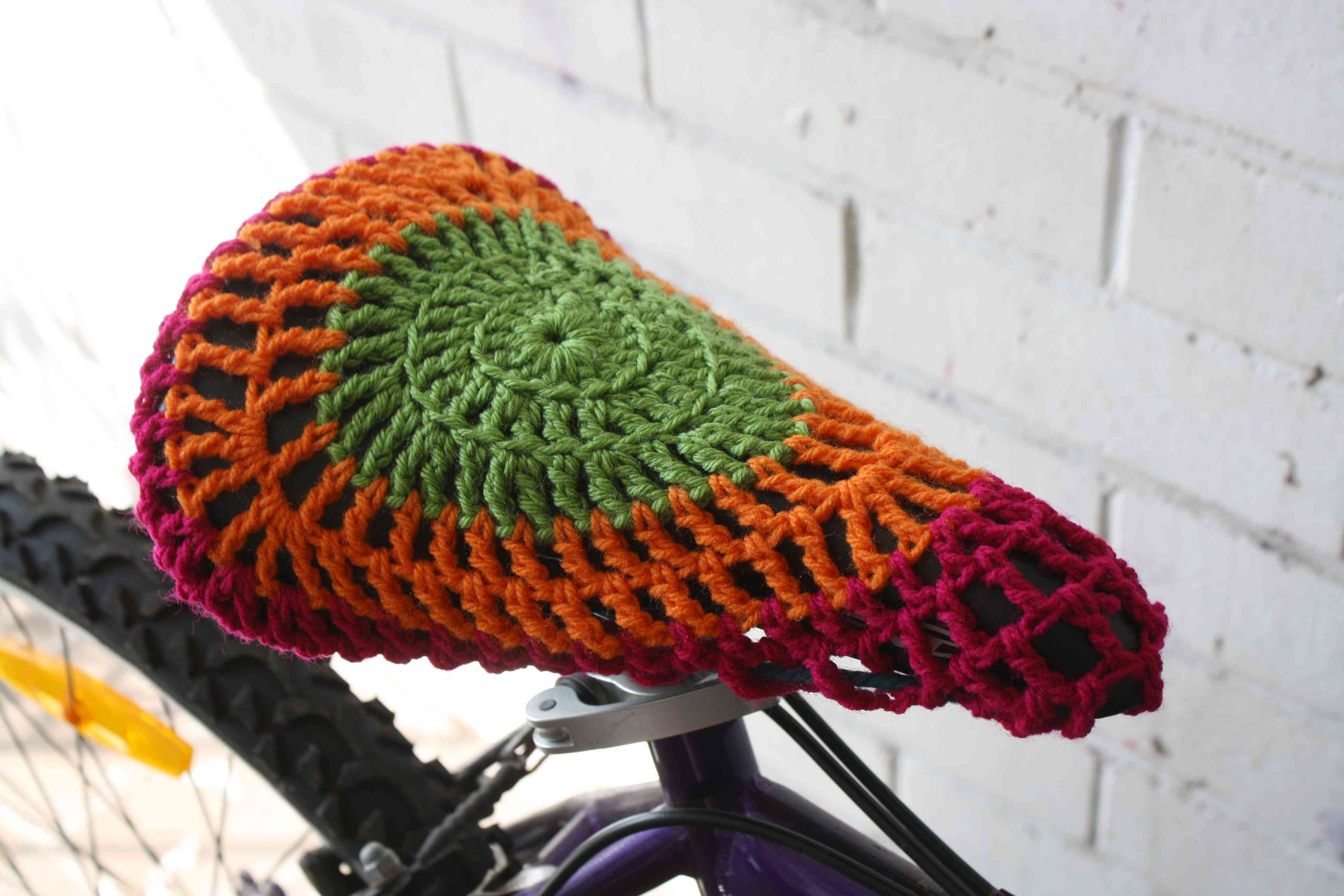 Bicycle Seat Crochet Cover