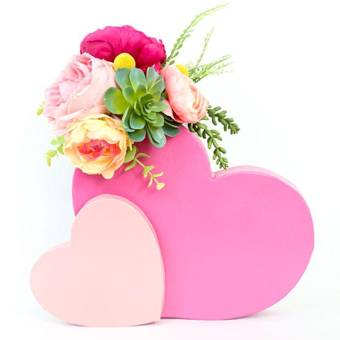DIY Double Heart Flower Vase