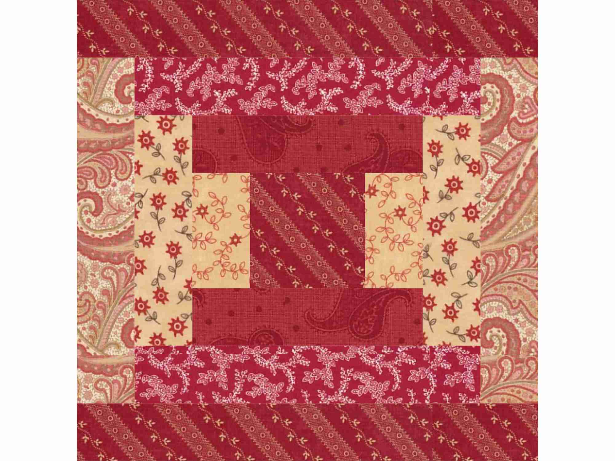 Easy Courthouse Steps Quilt Block Pattern