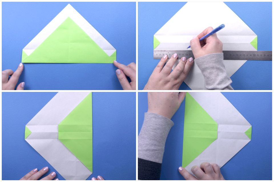 how to make purse with paper step by step