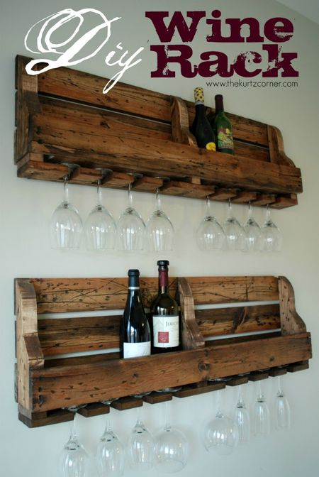 13 free diy wine rack plans you can build today a diy wine rack on a wall solutioingenieria Image collections