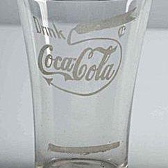 Ca. 1905-1910 Coca-Cola Etched Glass