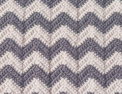 a ripple crochet blanket