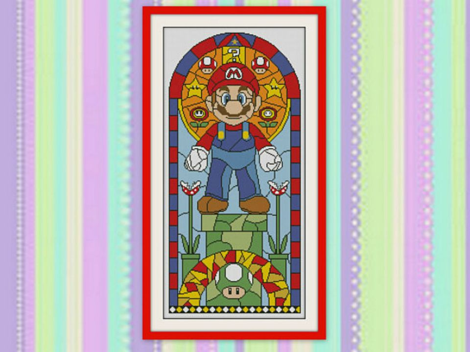 super mario bros cross stitch pattern