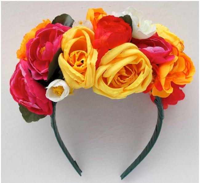 DIY Frida Kahlo Inspired Floral Headband