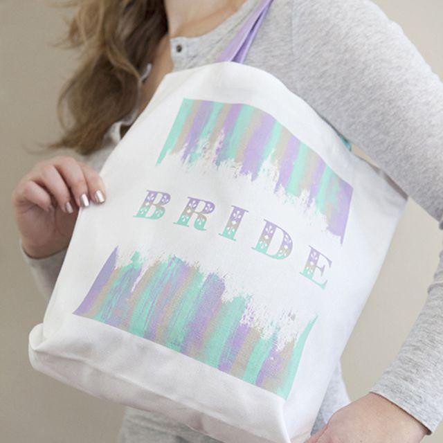 DIY Silkscreen Bride Tote