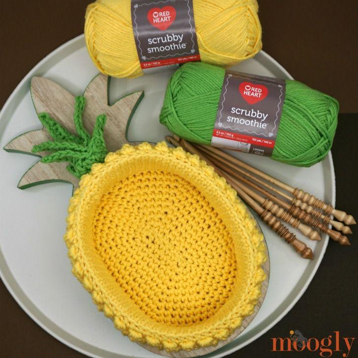 Pineapple Basket Crochet Pattern