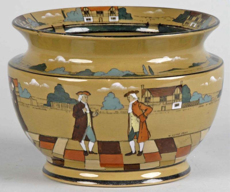 Buffalo Pottery Deldare Ware Centerpiece Bowl